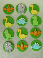 12 Dinosaur Birthday Party Cupcake Toppers